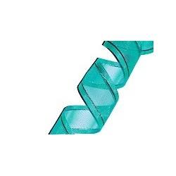 Organza Ribbon Aqua/Silver (15mm/20m)