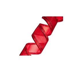 Organza Ribbon Rouge/Silver (15mm/20m)