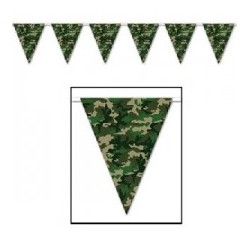 Camo Flag Bunting | Army Camo party supplies South Africa