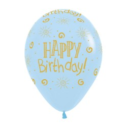 Sunshine Blue Latex Balloon 30cm