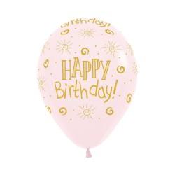 Sunshine Pink Latex Balloon 30cm