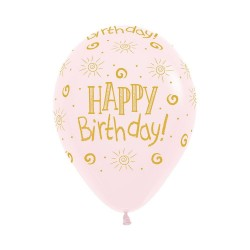 Sunshine Pink Latex Balloon 30cm