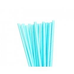 Pastel Blue Paper Straws (25pcs)