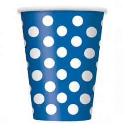 Royal Blue Dots Cups (pack of 6)
