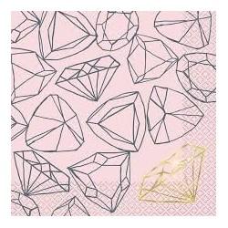 Pink Diamond Bride to be serviettes