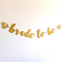Pink Diamond Bride to Be Banner (1.82m)