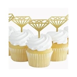 Pink Diamond Bride to Be cupcake toppers