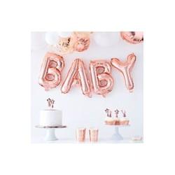 Baby Balloon Bunting (Rose Gold)