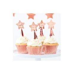 Twinkle Twinkle Star cupcake toppers (pk/12)