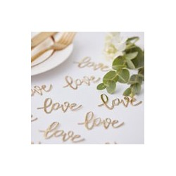 Gold Love Table Confetti