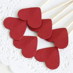 Heart Cupcake Topper (pk/6)