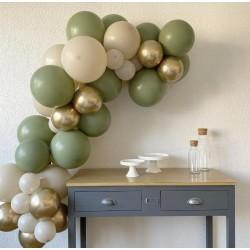 Eucalyptus and White Sand Balloon Arch Kit