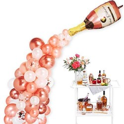 Rose Gold Champagne Spill Balloon Arch Kit