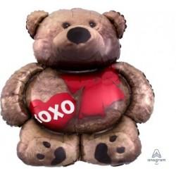 Cuddle Bear Love Foil Balloon