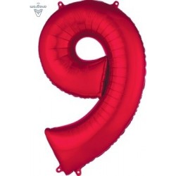 Red Number 8 Supershape Foil Balloon