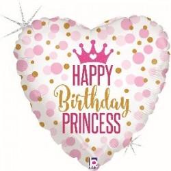 Happy Birthday Princess Crown Foil Balloon