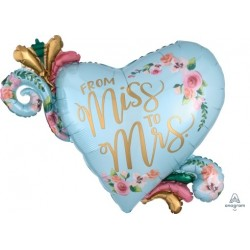 From Miss To Mrs Supershape Foil Balloon