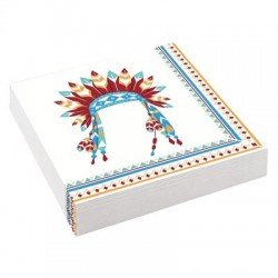 Tepee and Tomahawk western serviettes| Western Party Supplies