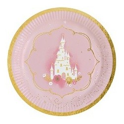 Princess for a Day paper plates | Princess party supplies