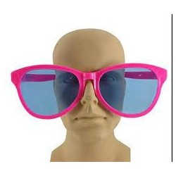 Giant pink glasses