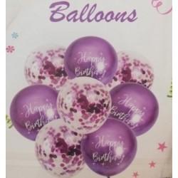 Purple Balloon Bouquet (8 pcs)