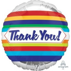 "18"" Thank you Stripes Foil Balloon"