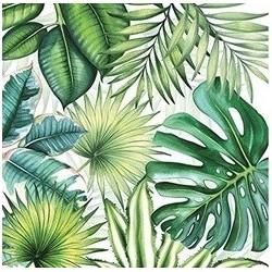 Hawaiian palm tropical serviettes