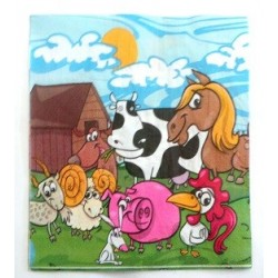 Farm animals serviettes