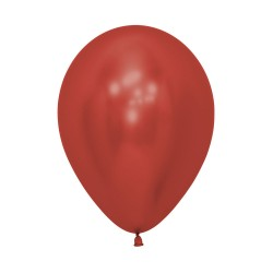 12 inch Chrome Red Balloon