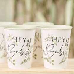 Botanical Baby party cups   Baby Shower party supplies