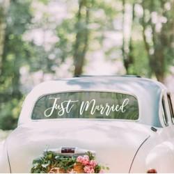 Just Married car sticker|Wedding Decor