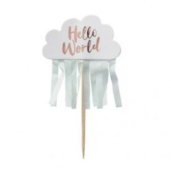 Hello World Cupcake Toppers (10 pcs)