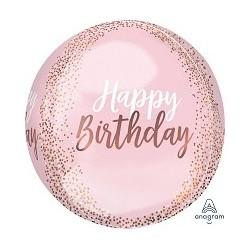 ORB: Happy Birthday Blush Foil Balloon