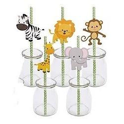 Wildlife Animals paper straws