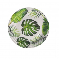 Palm Tropical Leaf paper plates. www.mypartysupplies.co.za