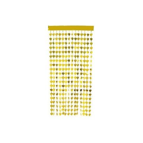 Metallic Gold heart shaped Curtain Backdrop