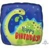 """18"""" Stegasaurus Birthday Happy Foil Balloon"""