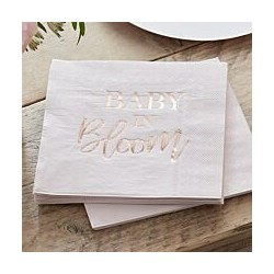 Baby in Bloom Serviettes (pk/16) | Baby Shower party supplies