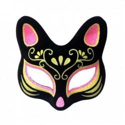 Colourful cat mask