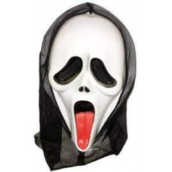 Halloween Scream Mask with tongue