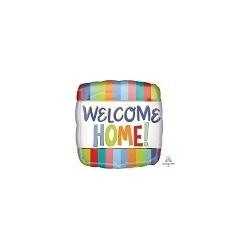 """18"""" Welcome Home Stripes Foil Balloon"""