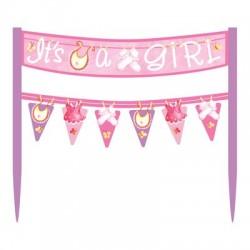 Baby Girl Clothesline Banner