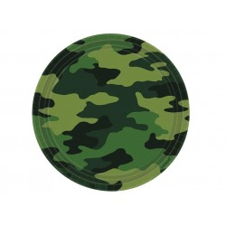 Military Camo Lunch plates (pack of 8)
