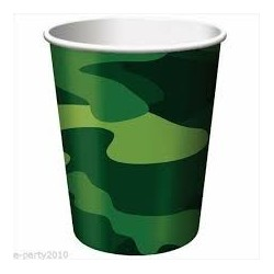 Military Camo Paper Cups (pack of 10)