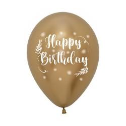 HBday Vintage Reflex Latex Balloon