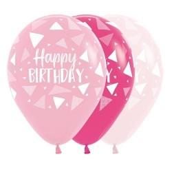 "12"" Triangles Girl Latex Balloon"