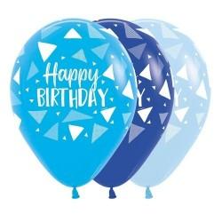 "12"" Triangles Boy Latex Balloon"