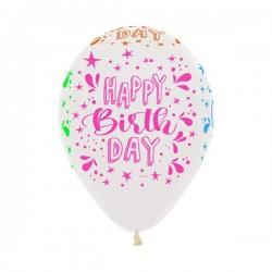 Neon Splash on Crystal Latex Balloon