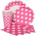 Polka dot party supplies